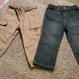 2 pairs of wranglers toddler size 3t pants